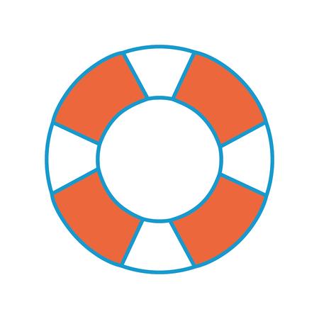 Lokalisierte Rettungsringikone Vektorgraphik-Illustrationsmeer Standard-Bild - 80689102