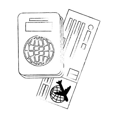 isolated travel kit icon vector graphic illustration Illustration