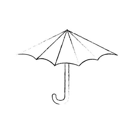 隔離されたビーチ傘アイコン ベクトル図 写真素材 - 80689519