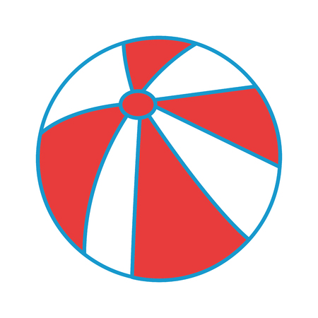 isolated beach ball icon vector graphic illustration