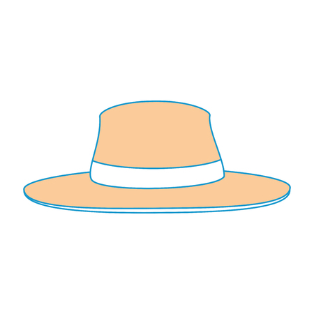 isolated beach hat icon vector graphic illustration Ilustrace