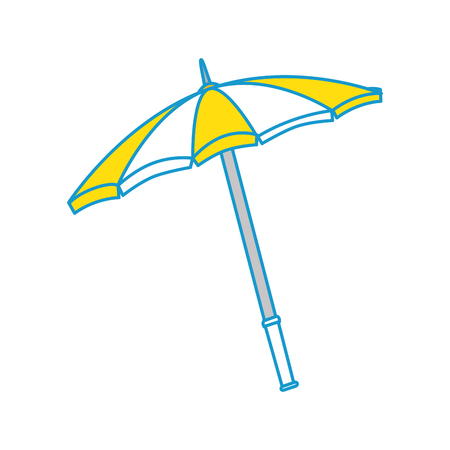 sunshade: isolated beach umbrella icon vector graphic illustration Illustration