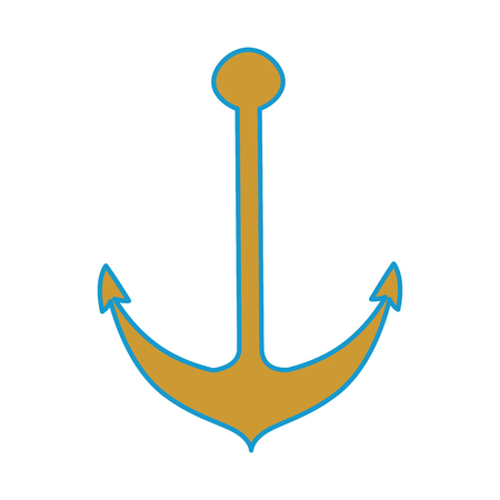 isolated heavy anchor icon vector graphic illustration