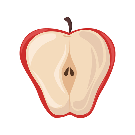 isolated sweet apple icon vector illustration graphic design 矢量图像