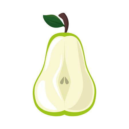 isolated sweet pear icon vector illustration graphic design