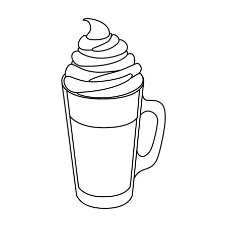 calorie: isolated milk shake icon vector illustration graphic design