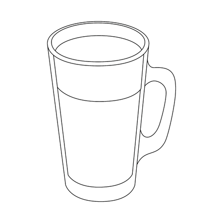 cold drink of chocolate icon vector illustration graphic design Ilustração