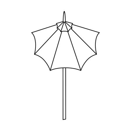 分離のかわいい傘アイコン ベクトル図  イラスト・ベクター素材