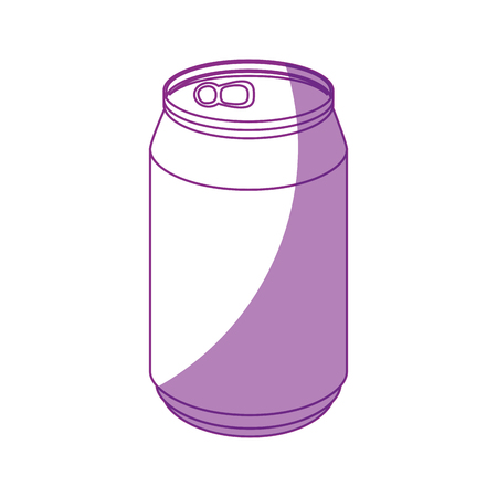 canned drink: can of soda icon vector illustration graphic design Illustration