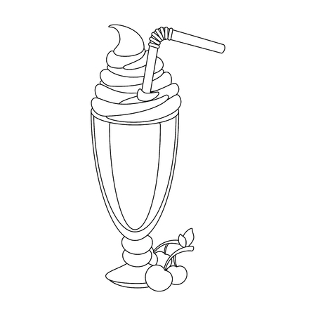 isolated milk shake icon vector illustration graphic design