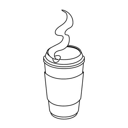 isolated hot coffee container icon vector illustration graphic design Illustration