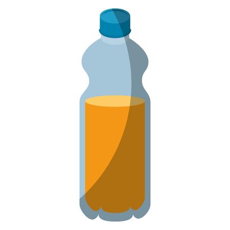 isolated orange bottle icon vector illustration graphic design
