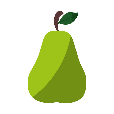 pear fresh fruit icon vector illustration graphic design
