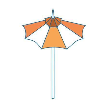 coastal: isolated cute umbrella icon vector graphic illustration Illustration