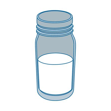 pasteurized: isolated milk bottle vector illustration graphic design Illustration