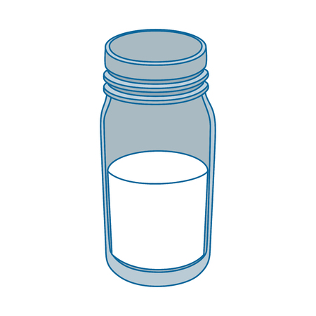 isolated milk bottle vector illustration graphic design Illustration