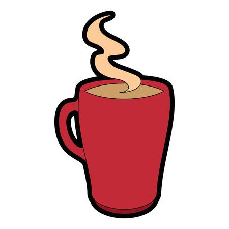 hete drankje van chocolade pictogram vector illustratie grafisch ontwerp