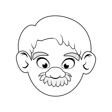 old man face icon vector illustration graphic design Stock fotó - 80723550