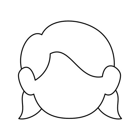 cute women face icon vector illustration graphic design Stock Vector - 80723538