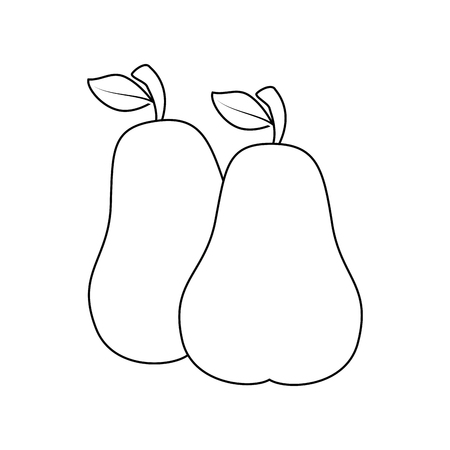 isolated sweet two pears icon vector illustration graphic design