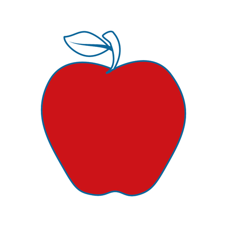 Red apple fruit icon vector illustration graphic design