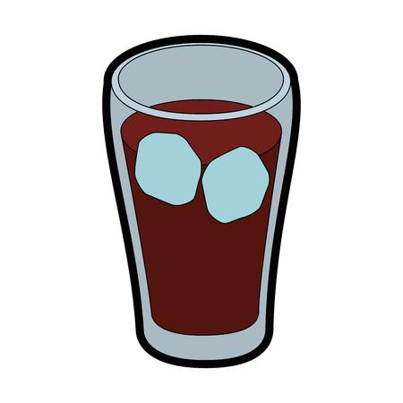 격리 콜드 콜라 음료 아이콘 벡터 일러스트 그래픽 디자인