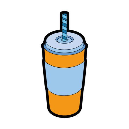Hete drankcontainer pictogram vector illustratie grafisch ontwerp