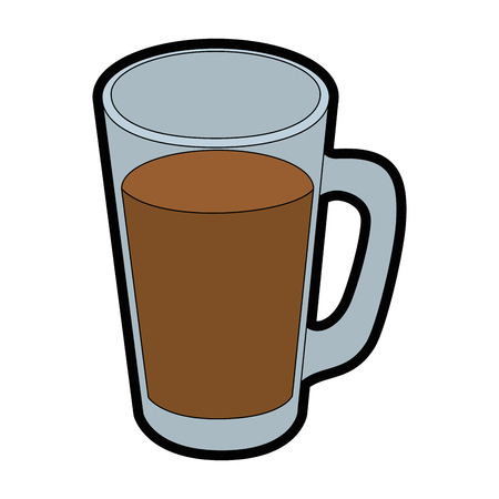 cold drink of chocolate icon vector illustration graphic design Illustration