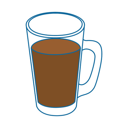 cold drink of chocolate icon vector illustration graphic design Ilustração