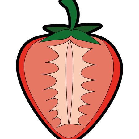 절연 달콤한 딸기 아이콘 벡터 일러스트 그래픽 디자인 일러스트