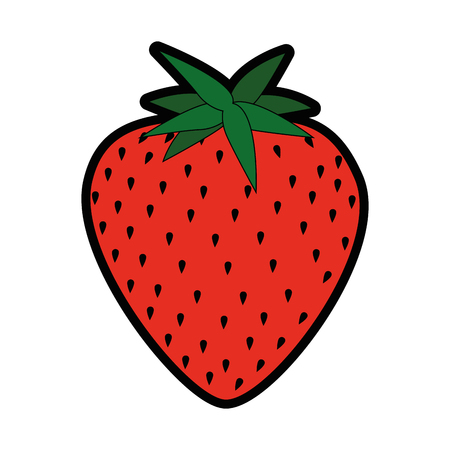 isolated sweet strawberry icon vector illustration graphic design