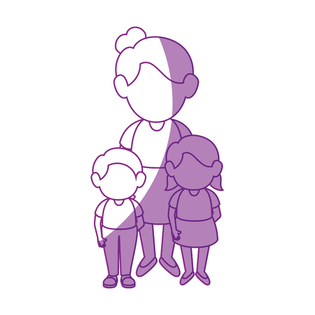 women with kids icon vector illustration graphic design