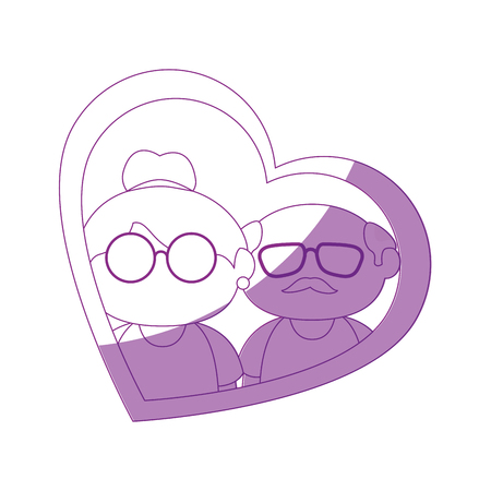 old couple in love icon vector illustration graphic design Illustration
