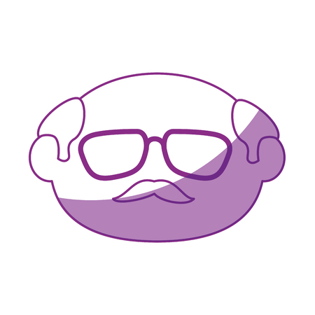 old man face icon vector illustration graphic design Stock fotó - 80723819