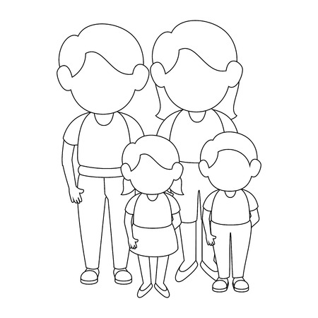 parenthood: family stand up icon vector illustration graphic design Illustration