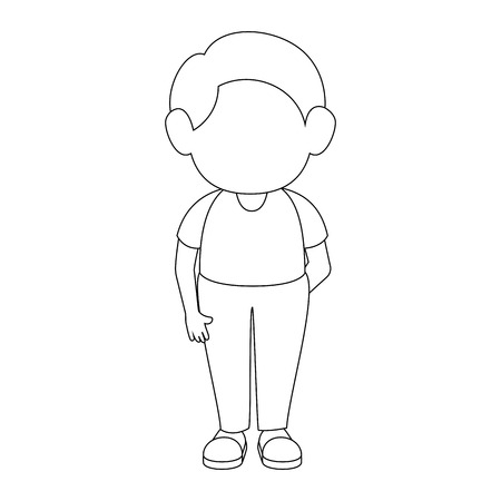 boy stand up icon vector illustration graphic design Illustration
