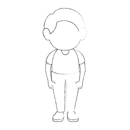 boy stand up icon vector illustration graphic design Illustration