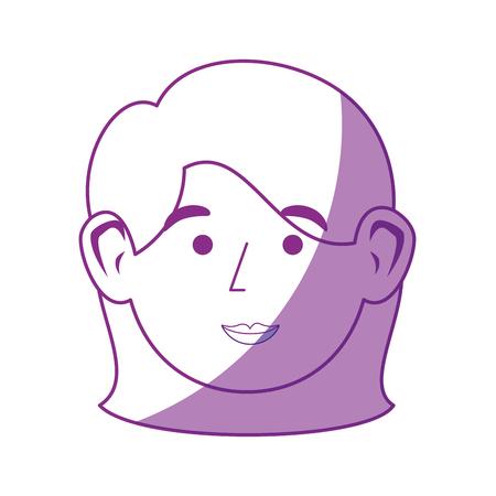 cute women face icon vector illustration graphic design