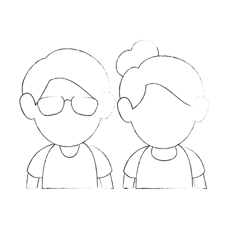 upperbody cute couple icon vector illustration graphic design Reklamní fotografie - 80723941
