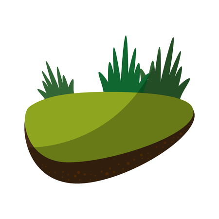 rock in a middle of grass icon vector illustration graphic design 向量圖像