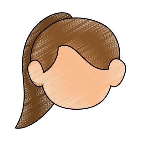 cute women face icon vector illustration graphic design Stock Vector - 80725428