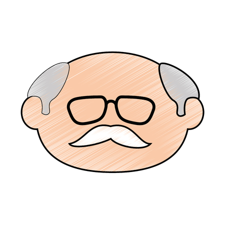 old man face icon vector illustration graphic design Stock fotó - 80726287