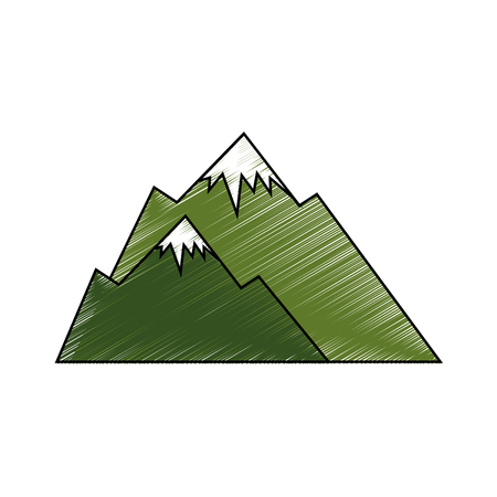 cute snowy mountains icon vector illustration graphic design