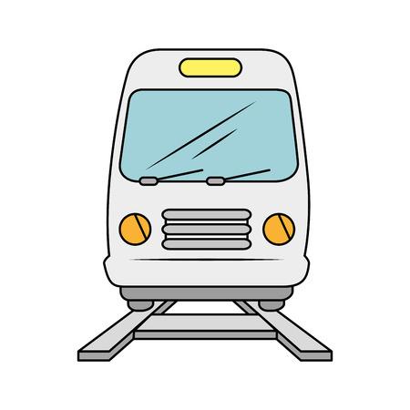 Diseño gráfico aislado del ejemplo del vector del icono del transporte del tren Foto de archivo - 80725615