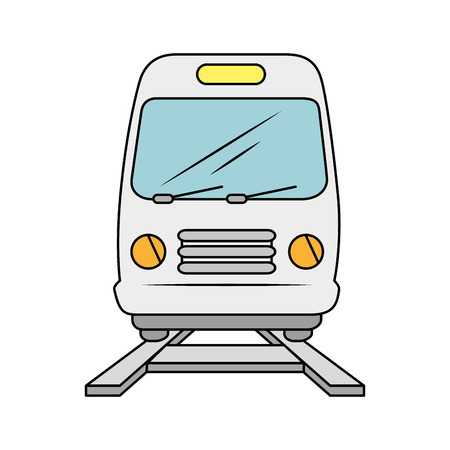 isolated train transport icon vector illustration graphic design