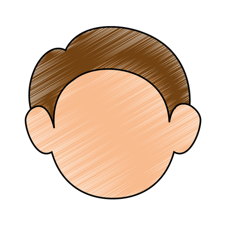 cute adult face icon vector illustration graphic design