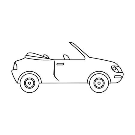 Isoliert bestimmte Auto-Symbol Vektor-Illustration Grafik-Design Standard-Bild - 80726156