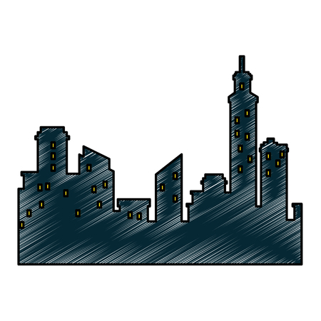 isolated city view icon vector illustration graphic design Stock Vector - 80726166