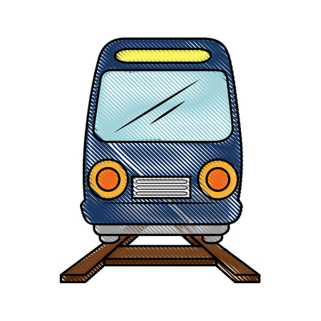 isolated train transport icon vector illustration graphic design