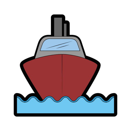 isolated big ship icon vector illustration graphic design